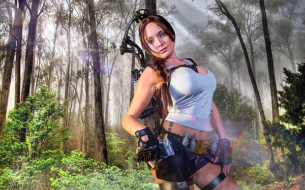 fantasia cosplay - lara croft